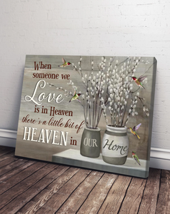 HUMMINGBIRD HEAVEN IN OUR HOME WALL ART CANVAS