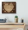 CANVAS - Butterfly - Remember Me Wall Art Canvas- Don't remember me with sadness