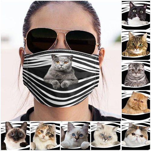 CAT FUNNY CLOTH MASK - Family Presents - Great Blanket, Canvas, Clothe, Gifts For Family