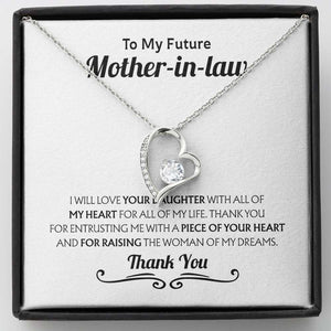 Mother's Day Necklace - Gift For Future Mother In Law From Son In Law - 14k White Gold Necklace, This Necklace Makes A Perfect