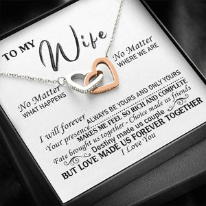 Necklace to my wife Gift for valentine, Love made us forever together - Family Presents - Great Blanket, Canvas, Clothe, Gifts For Family