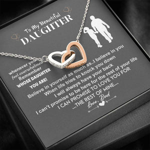 Heart necklace - A Daughter Necklace from Dad - I can promise to love you for the rest of mine - Christmas, birthday gift