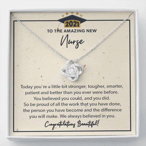 You Did - Knot Necklace - to New Nurse