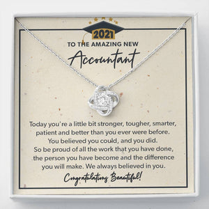 You Did - Knot Necklace - to New Accountant