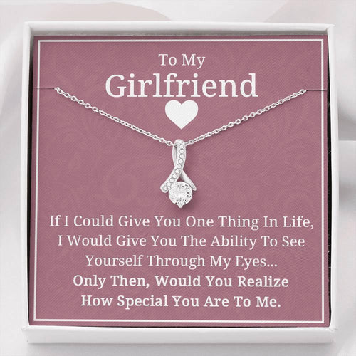 To My Girlfriend Necklace - Valentine Gift for Girlfriend, Birthday Gift for Girlfriend