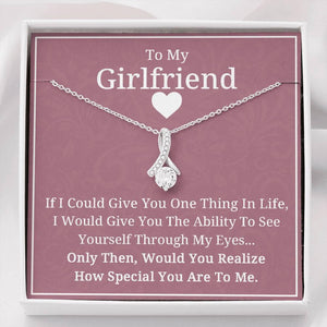 To My Girlfriend Necklace - Valentine Gift for Girlfriend, Birthday Gift for Girlfriend - Family Presents - Great Blanket, Canvas, Clothe, Gifts For Family