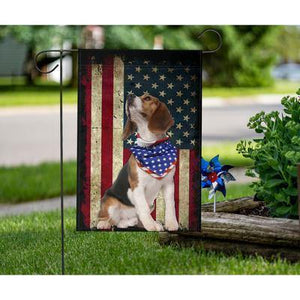 Beagle Dog Celebrate Fourth Of July Independent Day Garden Flag, House Flag