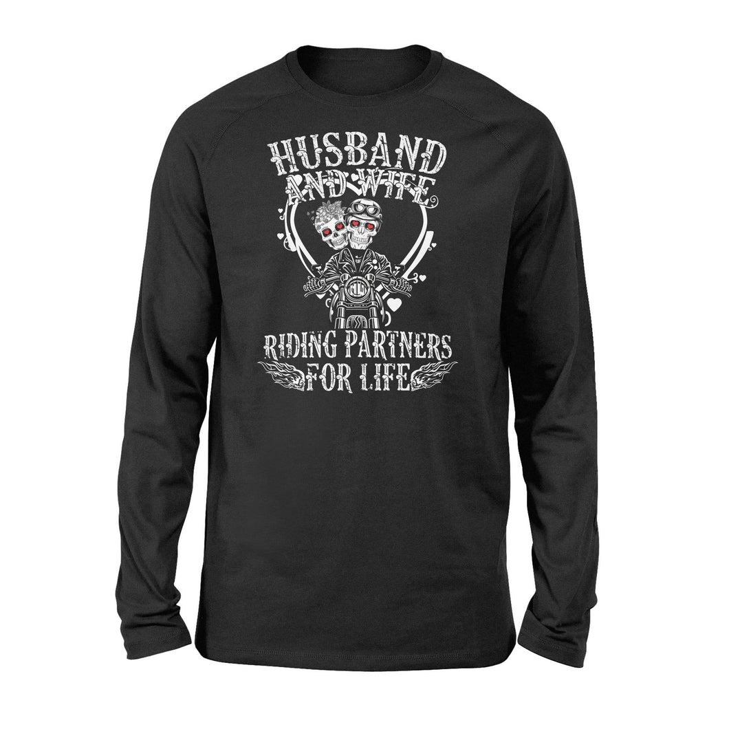 Husband and wife riding partner - Standard Long Sleeve - Family Presents