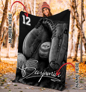 Baseball Glove Customized Blanket