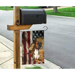 Boxer Dog Celebrate Fourth Of July Independent Day Garden Flag, House Flag - Family Presents - Great Blanket, Canvas, Clothe, Gifts For Family