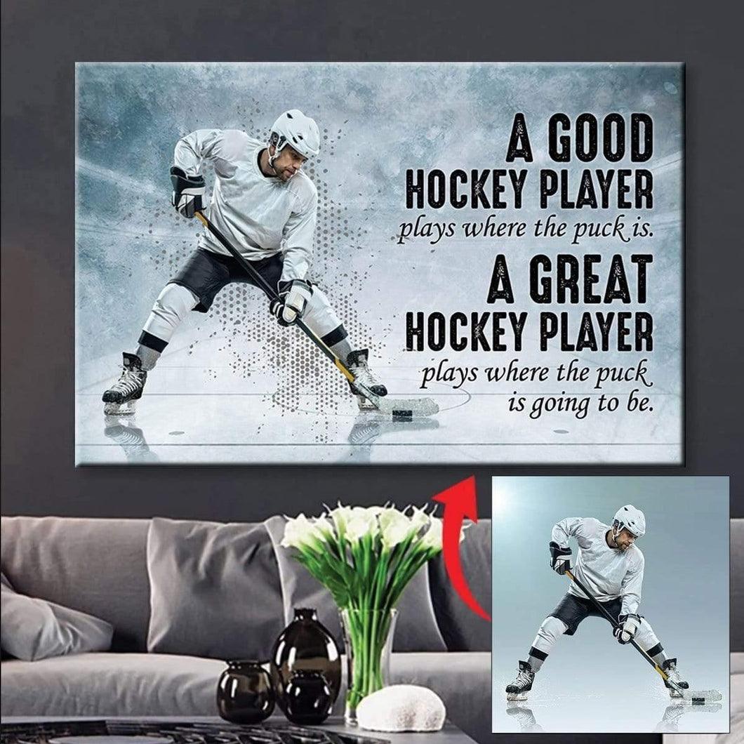 A Great Hockey Player Custom canvas prints With Your Photo