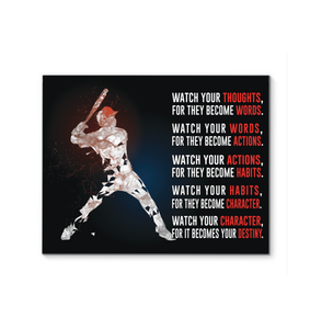 Baseball Custom Canvas prints WATCH