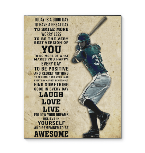 Baseball Today is a Good Day Canvas Prints - Family Presents - Great Blanket, Canvas, Clothe, Gifts For Family