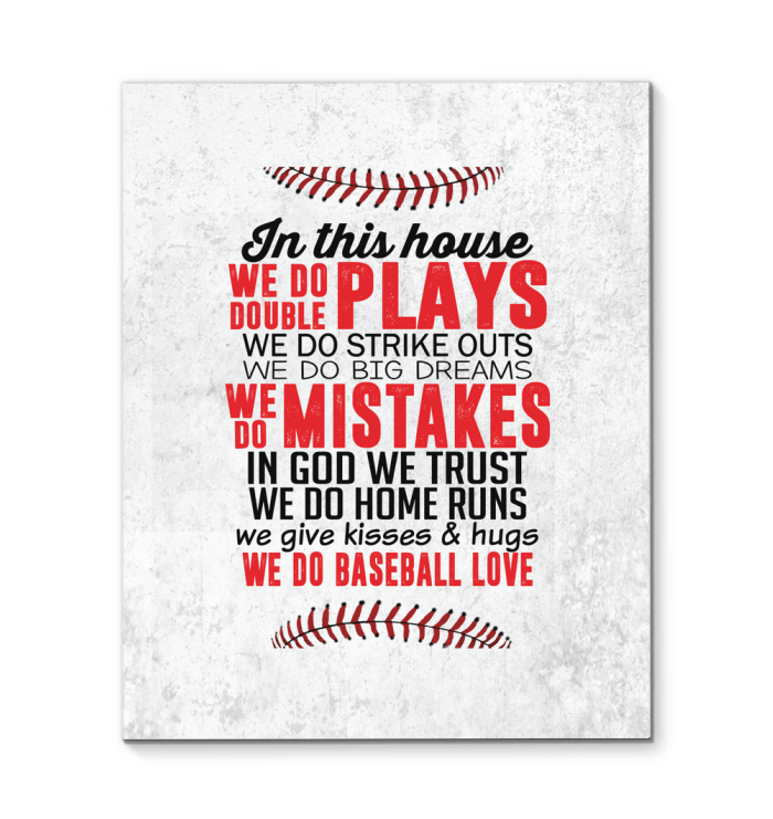 Baseball Custom Canvas prints We do baseball love