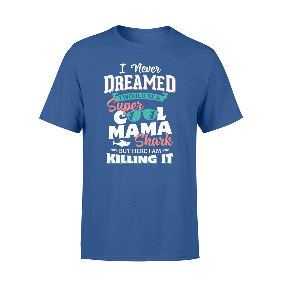 A Super Cool Mama Shark Premium T-shirt - Family Presents