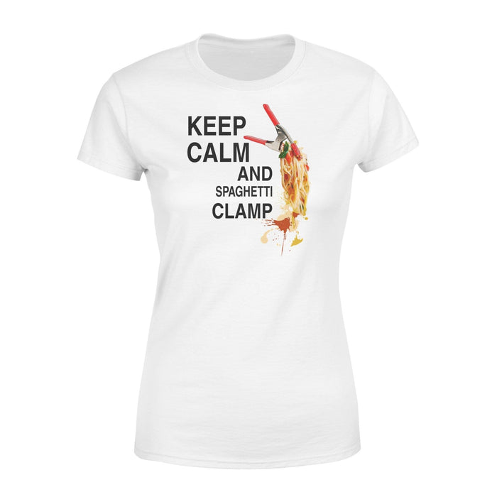 Keep calm and spaghetti Clamp - Standard Women's T-shirt - Family Presents