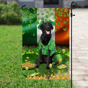 St. Patrick's Day 2021 Gifts  Black Labrador St. Patrick's Day Flag