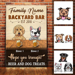 Personalized Dog Backyard Bar Gardening Canvas FB203 30O60 - Family Presents - Great Blanket, Canvas, Clothe, Gifts For Family