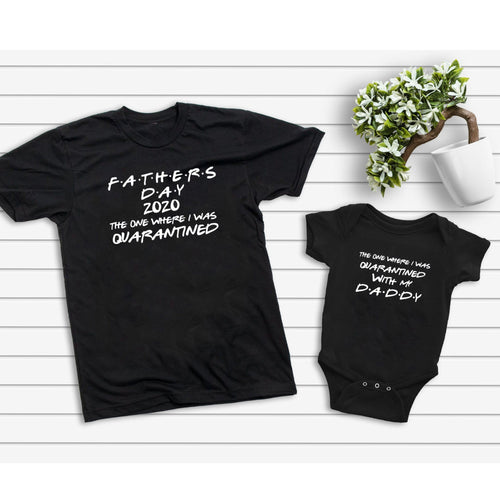 2020 Father'S Day Quarantined Matching T-Shirt Gift For New Dad