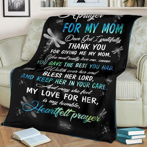A prayer for my Mom blanket - Family Presents - Great Blanket, Canvas, Clothe, Gifts For Family