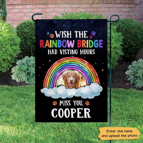 The Rainbow Bridge Personalized Dog Memorial Decorative Garden Flags