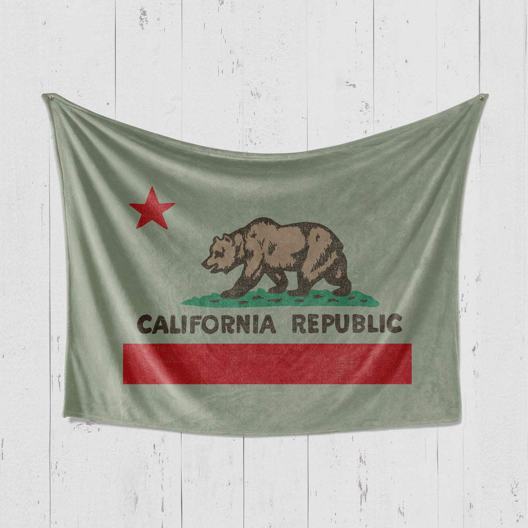 California Republic Green Blanket