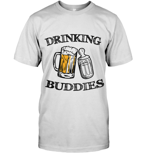 Daddy And Me Drinkink Buddies T Shirt Gift For New Dad