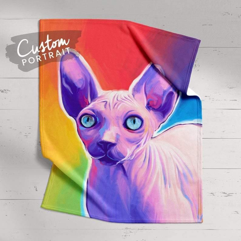 Custom Blanket - Pet Painted Customized Blanket
