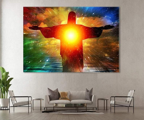 Jesus Abstract Art, Christ the Redeemer Statue Canvas, Jesus Christ Wall Decor, Christ the Redeemer Abstract Art, Christ Abstract Art Print - Family Presents - Great Blanket, Canvas, Clothe, Gifts For Family