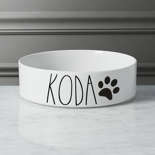 Personalized Pet Food And Water Bowl