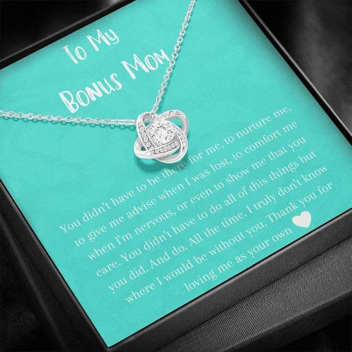 Bonus Mom Gift, Mother's Day Gift for Step Mom, Stepmother Necklace, Second Mom ,Adoptive Mom, Foster Mom Gift, Birthday Stepmom, Christmas - Family Presents - Great Blanket, Canvas, Clothe, Gifts For Family