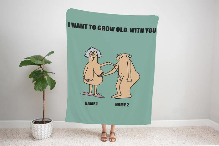 Fleece Blanket Personalized Gift for Him/Funny Gift for her Sherpa Blanket/Couple Long Distance Gifts /Valentines day Gifts/Dirty Gifts