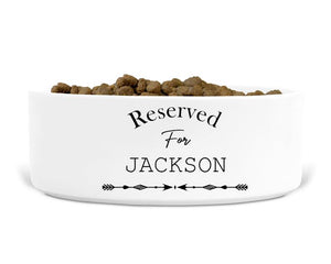 Personalised Dog And Cat Bowls, Reserved For, Feeding And Water, Pets
