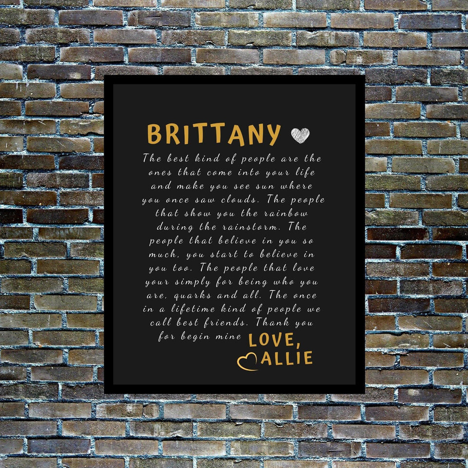 Best friend gift canvas wall art , frienship gift, Custom best friend gift personalized for her, friendship gift wall art for best friend -National friendship day