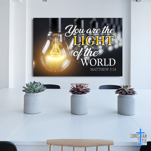 """You Are The Light of The World"" Premium Canvas"