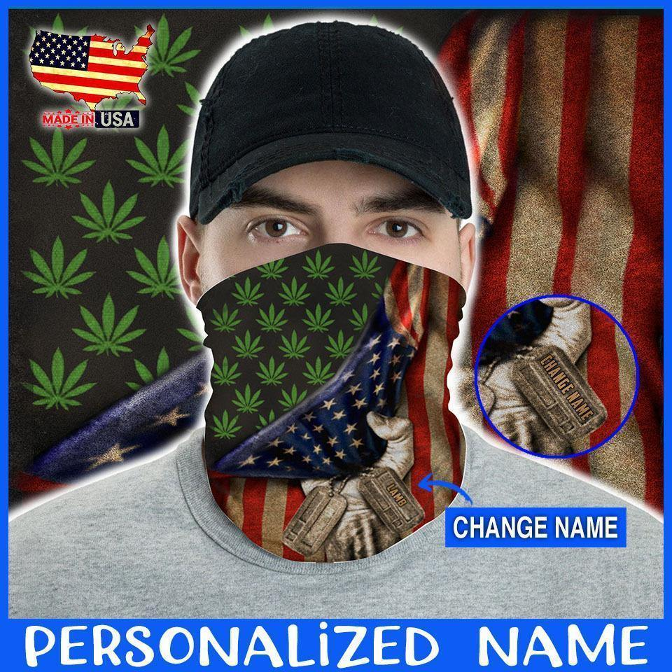 Custom Face Gaiter Cover Canabis Fag Personnalized Name ( Printed in USA ) - Face Gaiter Cover