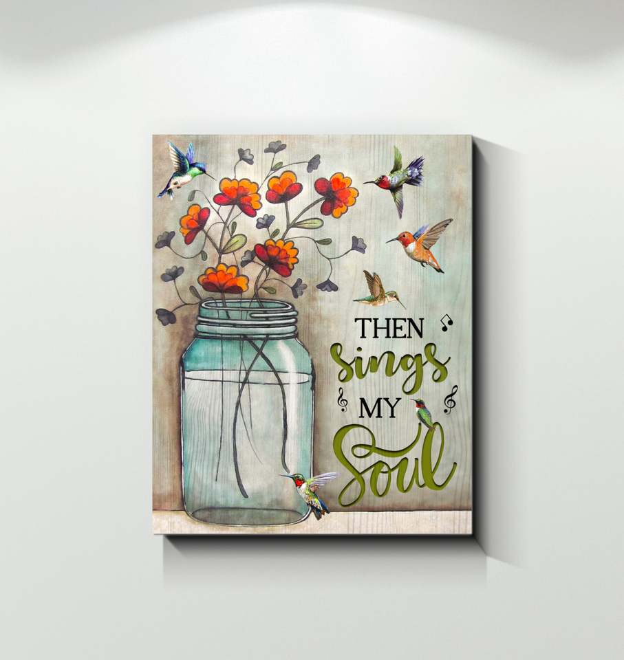 Canvas - Hummingbird - Then Sings My Soul 2 - Family Presents - Great Blanket, Canvas, Clothe, Gifts For Family