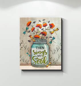 Canvas - Dragonfly - Then Sings My Soul - Family Presents - Great Blanket, Canvas, Clothe, Gifts For Family