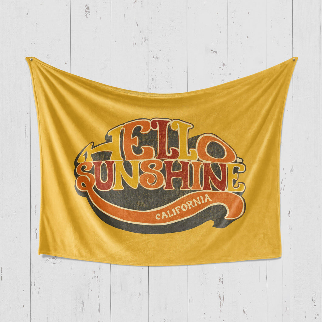 Hello Sunshine Mustard Blanket