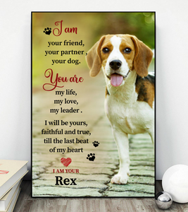 Personalized Animal Canvas-I am your friend, your partner, your Dog Canvas - Personalized Canvas Wall art - Dog Canvas