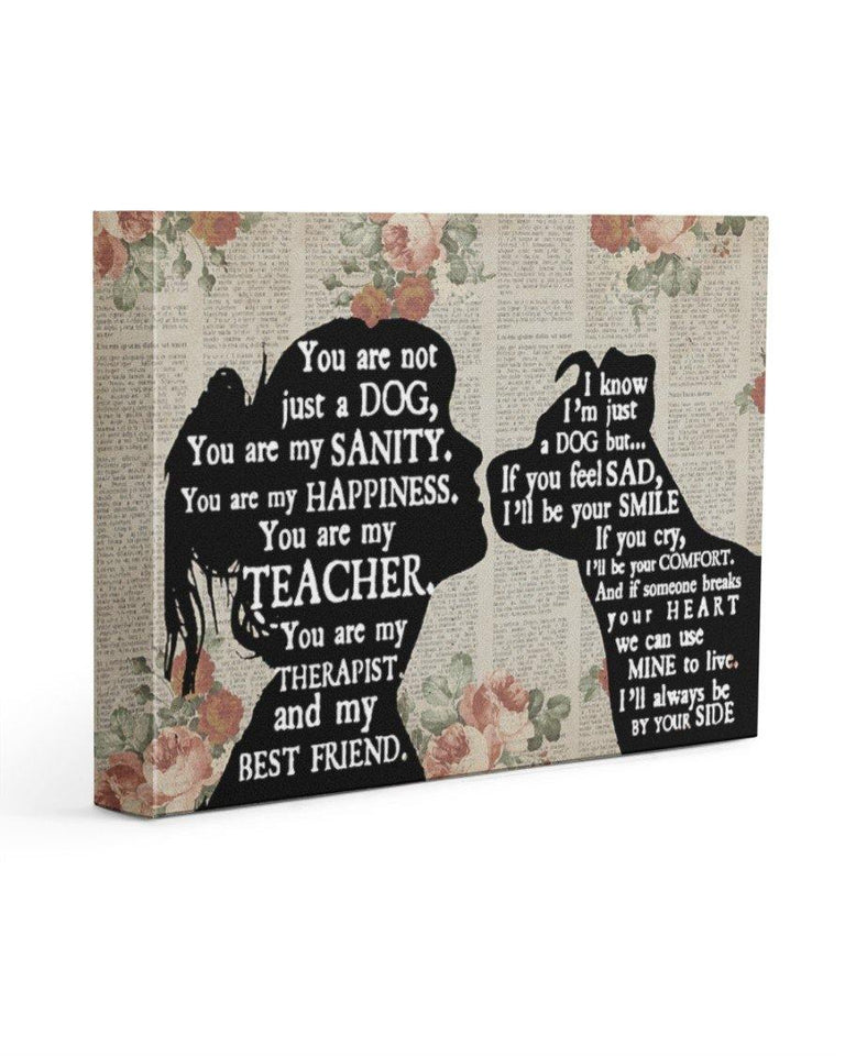 pitbull girl therapist best friend Wall Art Canvas - Family Presents - Great Blanket, Canvas, Clothe, Gifts For Family