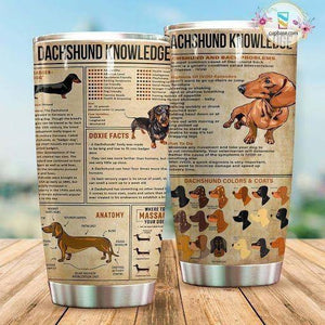 Dachshund Knowledge – Tumbler 20oz TA032802