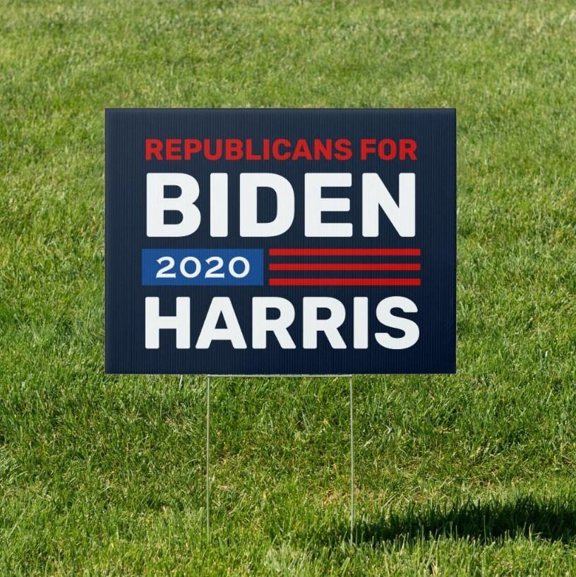 Republicans for Biden Harris 2020 Custom Yard Sign - Family Presents - Great Blanket, Canvas, Clothe, Gifts For Family