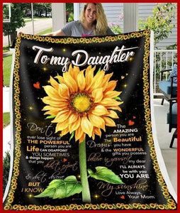 Daughter Blanket - Don't ever lose sight of the powerful person you are from mom Fleece Blanket - Family Presents