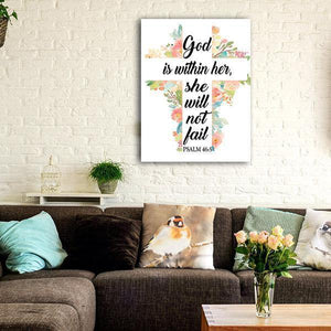 """GOD IS WITHIN HER"" PREMIUM CANVAS"
