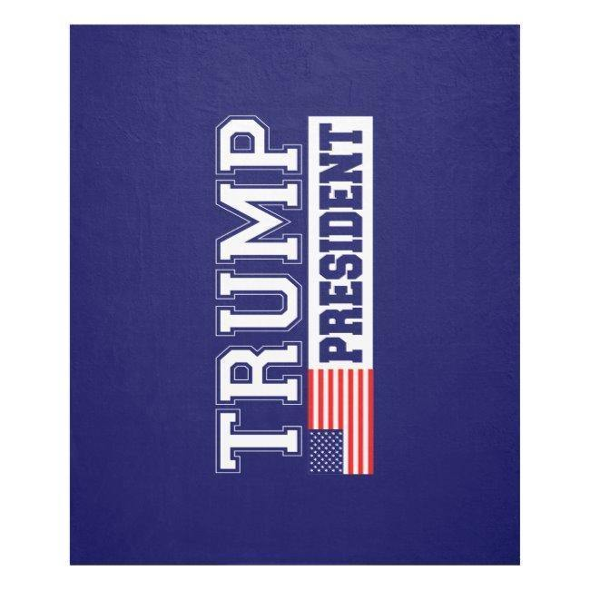 Donald Trump For President 2016 Fleece Blanket