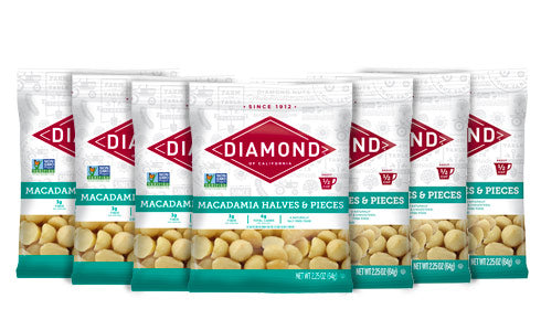 Packages of macadamia nuts