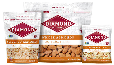 Packages of almonds