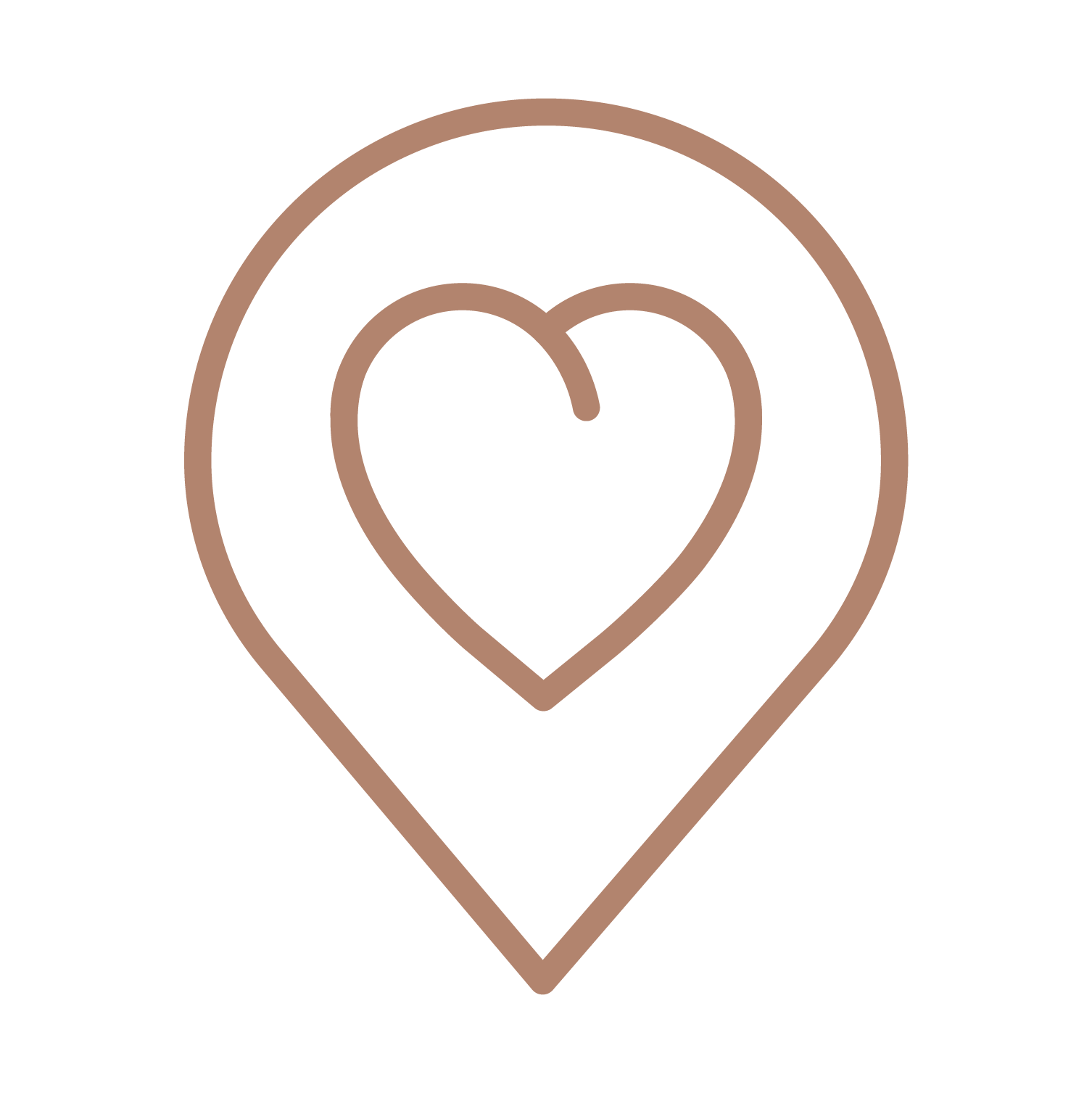 """A heart shape inside a GPS location symbol denoting """"self-care"""" and """"You-time"""", a perfect use of the Mood Setter Kit by MyMuse"""