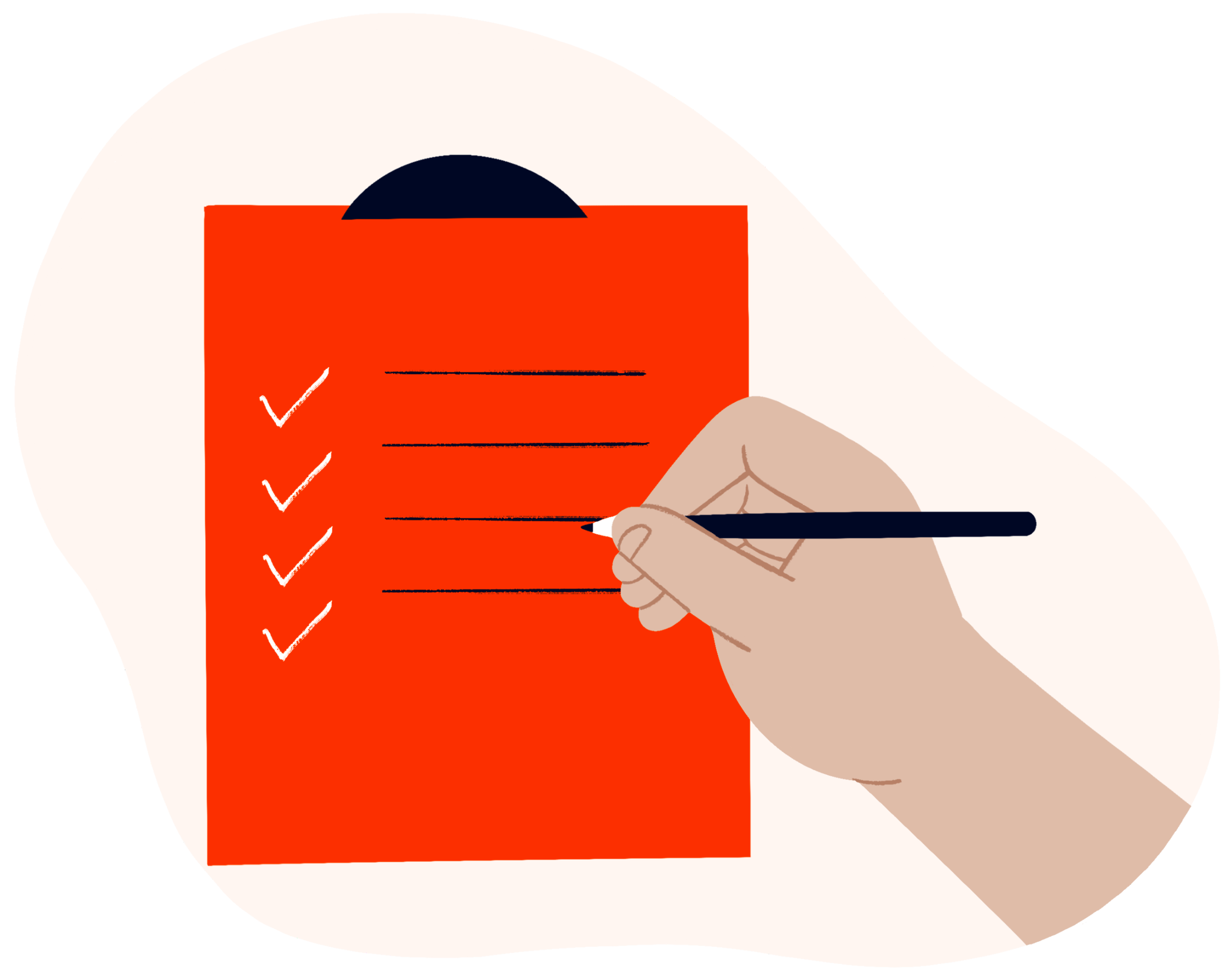 A checklist with ticks on it denoting full disclosure of MyMuse's Terms and Conditions